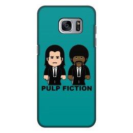 """Чехол для Samsung Galaxy S7 Edge, объёмная печать """"Pulp Fiction"""" - тарантино, криминальное чтиво, джон траволта, сэмюэл лерой джексон, культовое кино"""