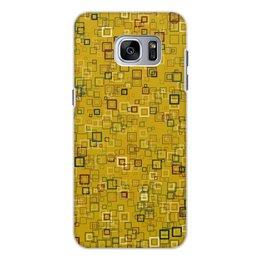 """Чехол для Samsung Galaxy S7 Edge, объёмная печать """"Квадраты"""" - квадрат, яркий"""