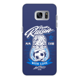 "Чехол для Samsung Galaxy S7 Edge, объёмная печать ""Футбол"" - футбол, спорт, матрёшка"