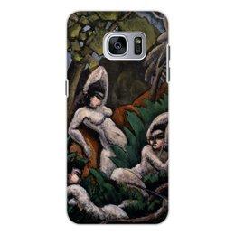"Чехол для Samsung Galaxy S7 Edge, объёмная печать ""Лето (картина Макса Вебера)"" - картина, живопись, кубизм, модерн, вебер"