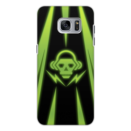 "Чехол для Samsung Galaxy S7 Edge, объёмная печать ""Skull"" - skull, music, dubstep"