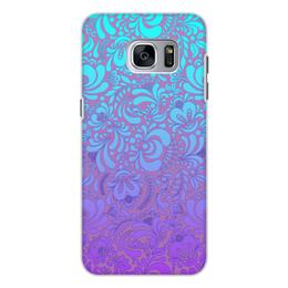 """Чехол для Samsung Galaxy S7 Edge, объёмная печать """"Мираж"""" - рисунок, гжель, роспись"""