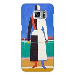 """Чехол для Samsung Galaxy S7 Edge, объёмная печать """"Женщина с граблями (картина Малевича)"""" - картина, живопись, супрематизм, абстракционизм, малевич"""