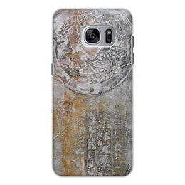 """Чехол для Samsung Galaxy S7 Edge, объёмная печать """"Знаки"""" - арт, картина, фактурный, 14фев"""