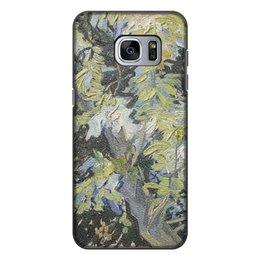 "Чехол для Samsung Galaxy S7 Edge, объёмная печать ""Ветви цветущей акации (Винсент ван Гог)"" - картина, ван гог"