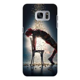 "Чехол для Samsung Galaxy S7 Edge, объёмная печать ""Deadpool"" - комиксы, marvel, deadpool, марвел, дэдпул"