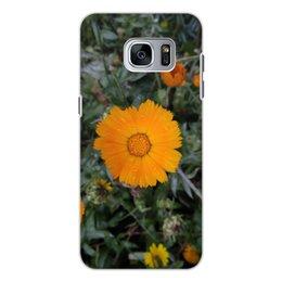 """Чехол для Samsung Galaxy S7 Edge, объёмная печать """"Летние цветы"""" - лето, цветы, summer, flower, воспоминания"""