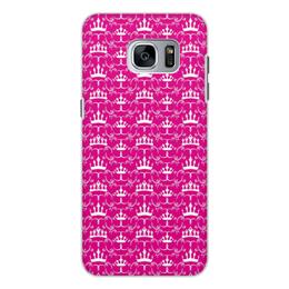 """Чехол для Samsung Galaxy S7 Edge, объёмная печать """"Короны принцесс"""" - мультик, мультфильм, дисней, принцесса, принцессы"""