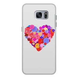 """Чехол для Samsung Galaxy S7 Edge, объёмная печать """"День всех влюбленных"""" - любовь, день святого валентина, валентинка, i love you, день влюбленных"""