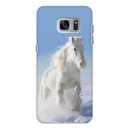 """Чехол для Samsung Galaxy S7 Edge, объёмная печать """"Лошадь"""" - лошадь, фотография, животное, конь"""