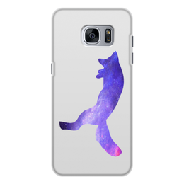 "Чехол для Samsung Galaxy S7 Edge, объёмная печать ""Space animals"" - space, космос, fox, лиса, астрономия"