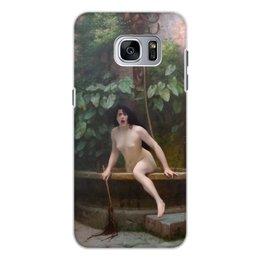 """Чехол для Samsung Galaxy S7 Edge, объёмная печать """"Истина, выбирающаяся из колодца (Жан-Леон Жером)"""" - картина, академизм, живопись, ню, жером"""