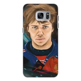 """Чехол для Samsung Galaxy S7 Edge, объёмная печать """"Артемий Панарин"""" - хоккей, нхл, сборная россия по хоккею, артемий панарин"""