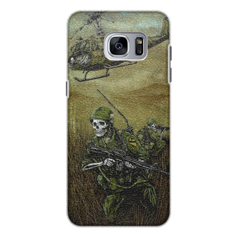 Чехол для Samsung Galaxy S7 Edge кожаный Printio Война чехол для samsung galaxy s7 edge кожаный printio architects