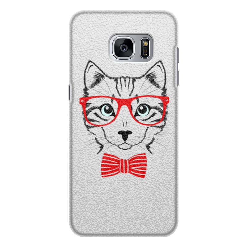 Чехол для Samsung Galaxy S7 Edge кожаный Printio Кошка чехол для samsung galaxy s7 edge кожаный printio вершина