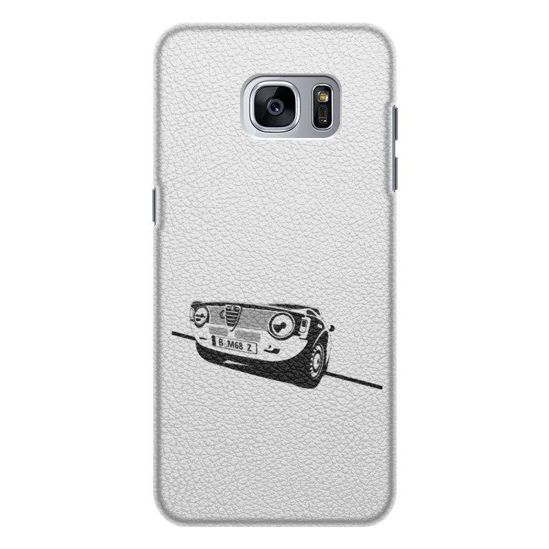 Чехол для Samsung Galaxy S7 Edge кожаный Printio Retro alfa romeo racing наклейки tony 2 74 alfa romeo mito 147 156 159 166 giulietta gt