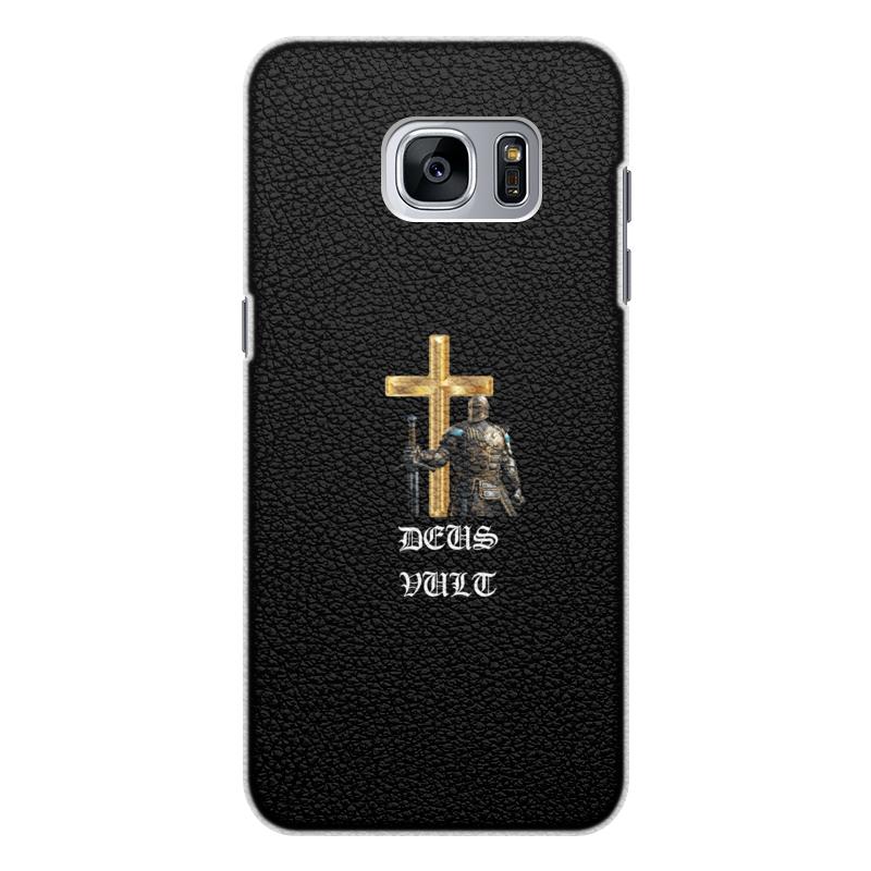 Чехол для Samsung Galaxy S7 Edge кожаный Printio Deus vult. крестоносцы чехол для samsung galaxy s7 edge кожаный printio вершина