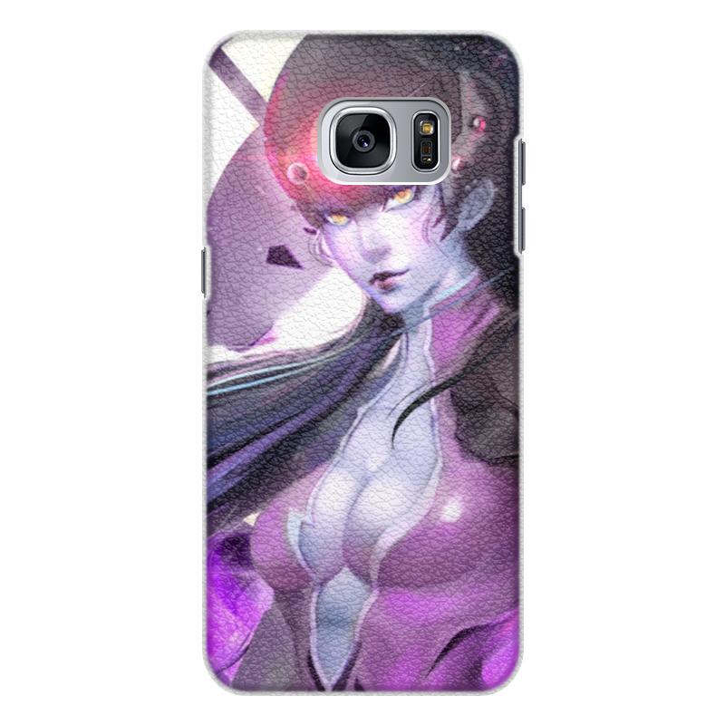 Чехол для Samsung Galaxy S7 Edge кожаный Printio Overwatch: widowmaker