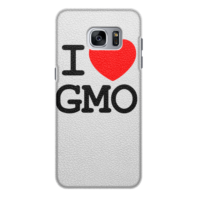 Чехол для Samsung Galaxy S7 Edge кожаный Printio I love gmo чехол для samsung galaxy s7 edge кожаный printio вершина