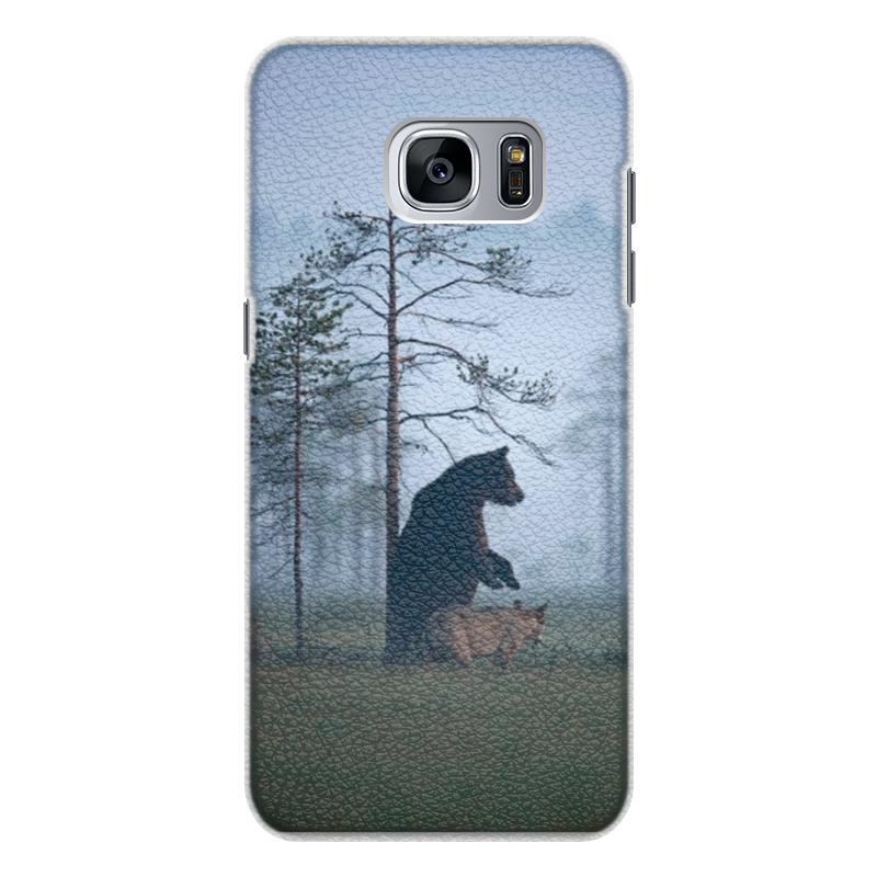 Чехол для Samsung Galaxy S7 Edge кожаный Printio Мишка и волк чехол для samsung galaxy s7 edge кожаный printio вершина