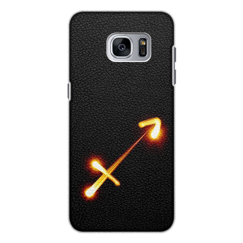 Чехол для Samsung Galaxy S7 Edge кожаный Printio Стрельцу (22.11-21.12) чехол для samsung galaxy s7 edge кожаный printio вершина