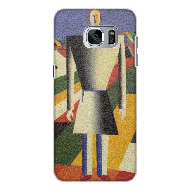 Чехол для Samsung Galaxy S7 Edge кожаный Printio Крестьянин в поле (казимир малевич) чехол для samsung galaxy s5 printio голова крестьянина казимир малевич