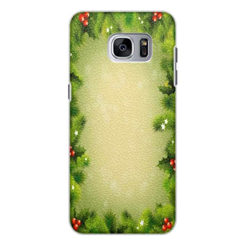 Чехол для Samsung Galaxy S7 Edge кожаный Printio С новым годом! чехол для samsung galaxy s7 edge кожаный printio вершина