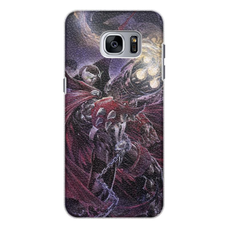 Чехол для Samsung Galaxy S7 Edge кожаный Printio Спаун (spawn) чехол для samsung galaxy s7 edge кожаный printio вершина