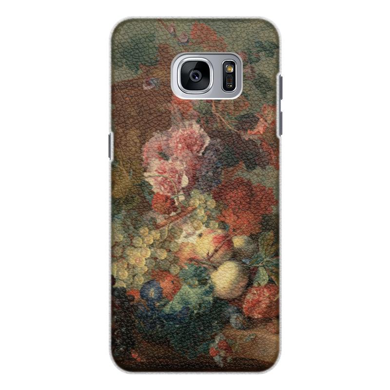 Чехол для Samsung Galaxy S7 Edge кожаный Printio Цветы (ян ван хёйсум) ян ван хейсум
