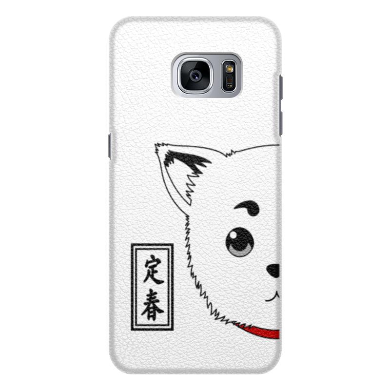Чехол для Samsung Galaxy S7 Edge кожаный Printio Гинтама. садахару чехол для samsung galaxy s7 edge кожаный printio гинтама