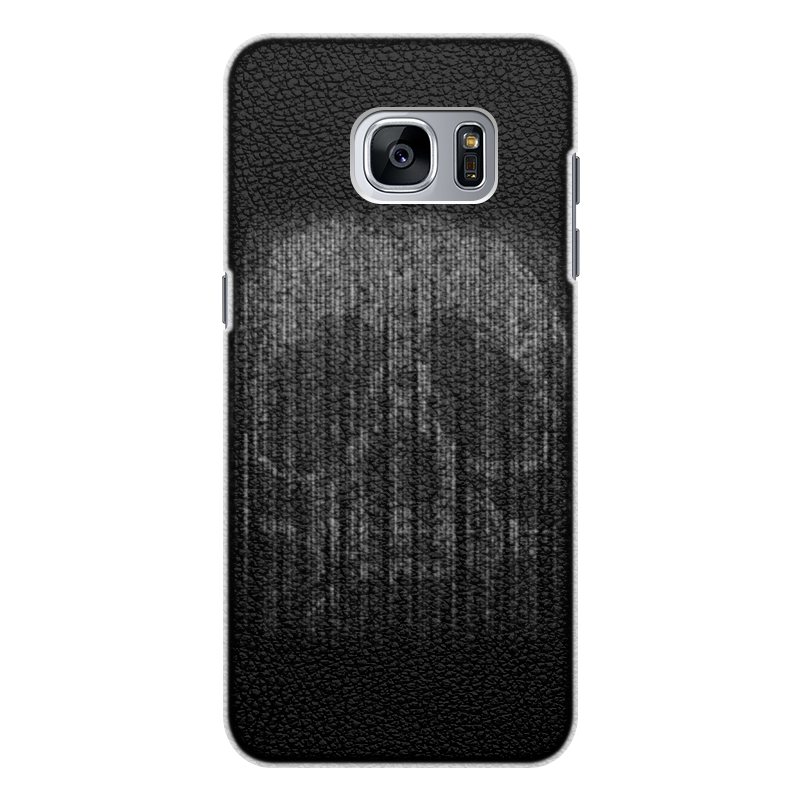 Чехол для Samsung Galaxy S7 Edge кожаный Printio Голограмма череп чехол для samsung galaxy s5 printio голограмма череп