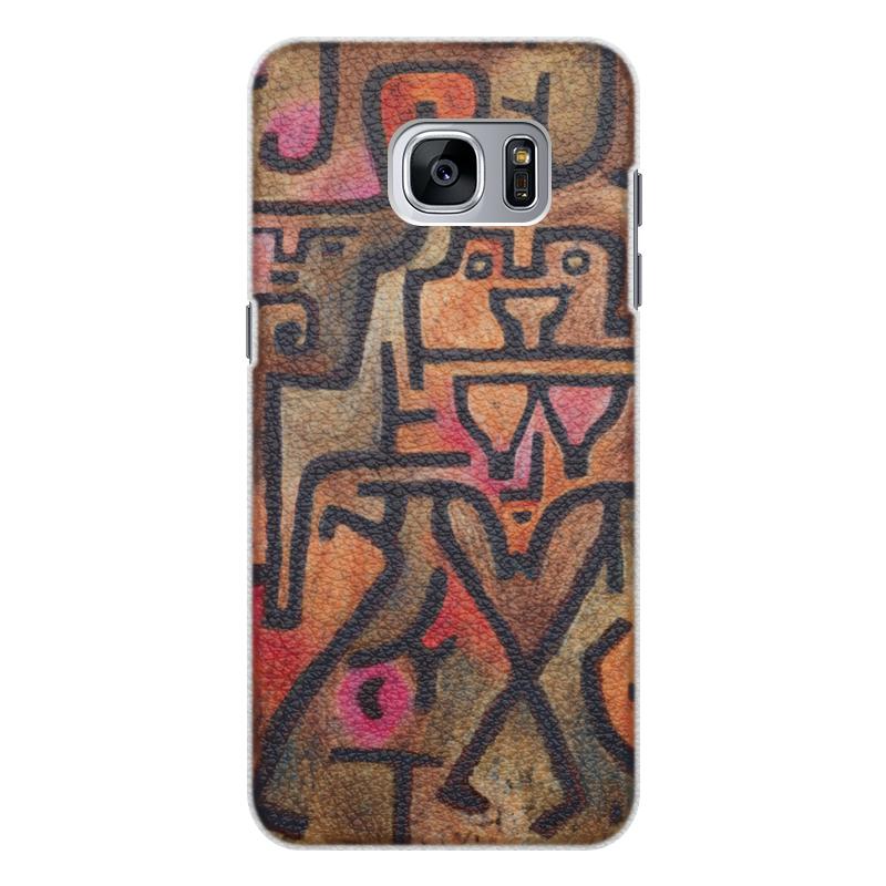 Чехол для Samsung Galaxy S7 Edge кожаный Printio Лесные ведьмы (пауль клее) чехол для samsung galaxy s5 printio лесные ведьмы пауль клее