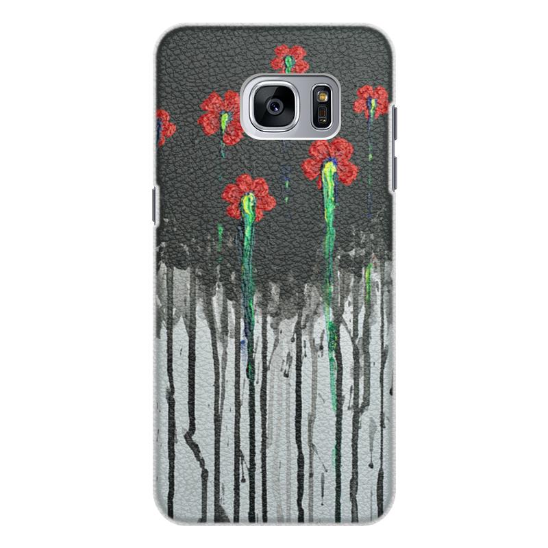 Чехол для Samsung Galaxy S7 Edge кожаный Printio Красные маки чехол для samsung galaxy s7 edge кожаный printio вершина