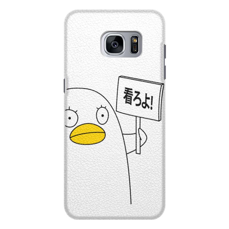 Чехол для Samsung Galaxy S7 Edge кожаный Printio Гинтама. элизабет чехол для samsung galaxy s7 edge кожаный printio вершина