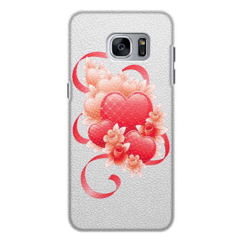 Чехол для Samsung Galaxy S7 Edge кожаный Printio Любимой на 14 февраля чехол для samsung galaxy s7 edge кожаный printio вершина