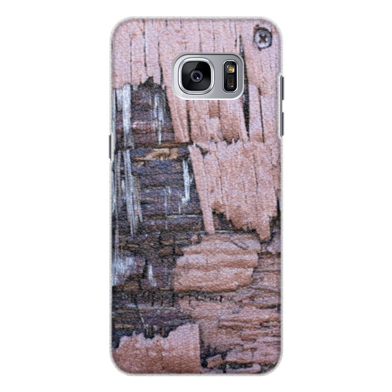 Чехол для Samsung Galaxy S7 Edge кожаный Printio Деревянный чехол для samsung galaxy s7 edge кожаный printio вершина