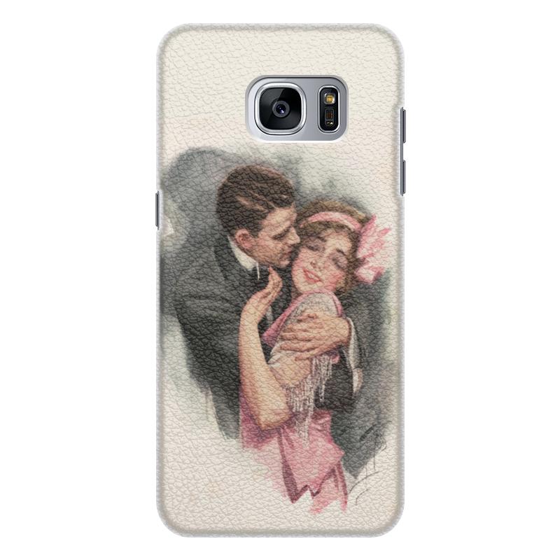 Чехол для Samsung Galaxy S7 Edge кожаный Printio День святого валентина чехол для samsung galaxy s7 edge кожаный printio вершина