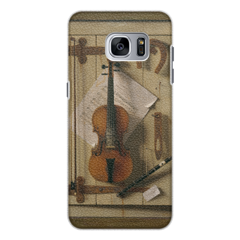 Чехол для Samsung Galaxy S7 Edge кожаный Printio Натюрморт со скрипкой (уильям харнетт) чехол для samsung galaxy s5 printio натюрморт со скрипкой уильям харнетт