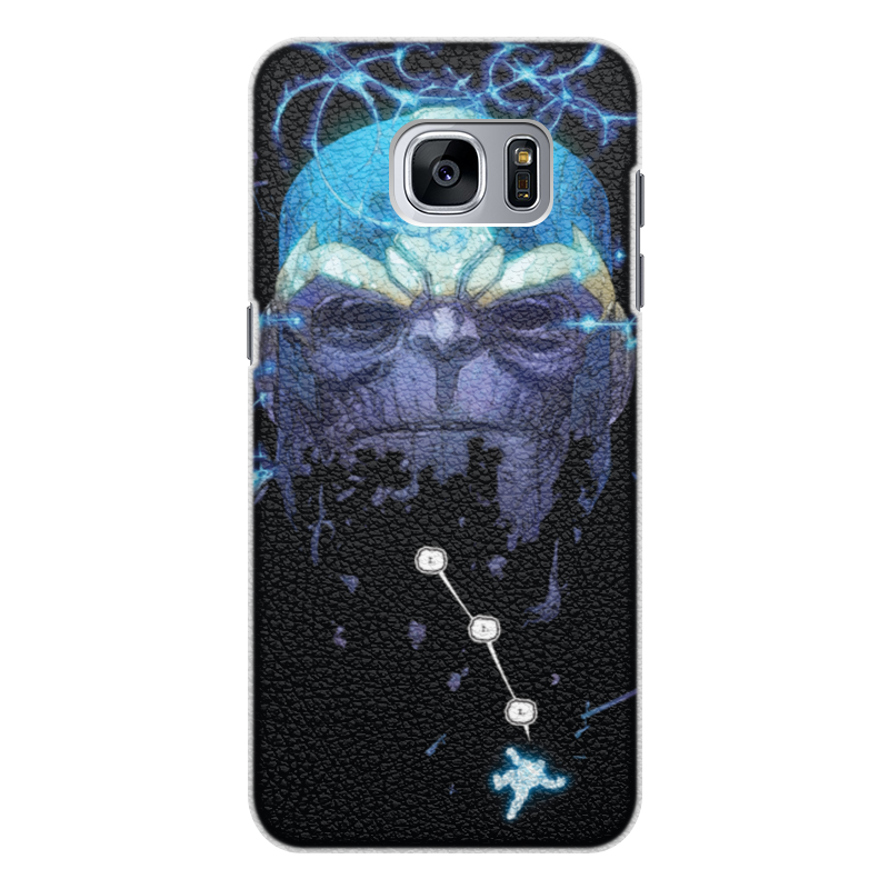 Чехол для Samsung Galaxy S7 Edge кожаный Printio Танос