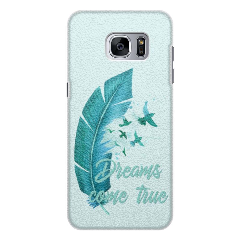 Чехол для Samsung Galaxy S7 Edge кожаный Printio Dreams come true