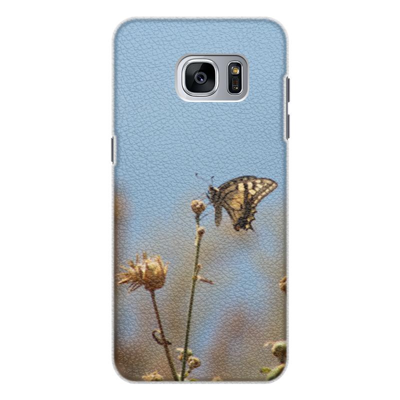 Чехол для Samsung Galaxy S7 Edge кожаный Printio Бабочка махаон чехол для samsung galaxy s7 edge кожаный printio вершина