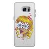 """Чехол для Samsung Galaxy S7 Edge кожаный """"Без ума от цветов"""" - любовь, девушка, цветы, сердца, блондинка"""