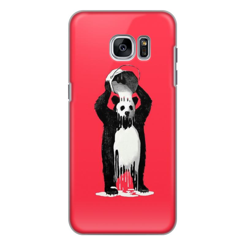 Чехол для Samsung Galaxy S7 Edge силиконовый Printio Панда в краске позиционеры для сна candide позиционер с подголовником воздухопроницаемая панда air