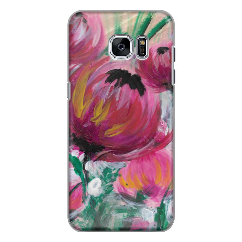 Чехол для Samsung Galaxy S7 Edge силиконовый Printio Полевые цветы st баллон для автоматического освежителя воздуха полевые цветы 39 мл