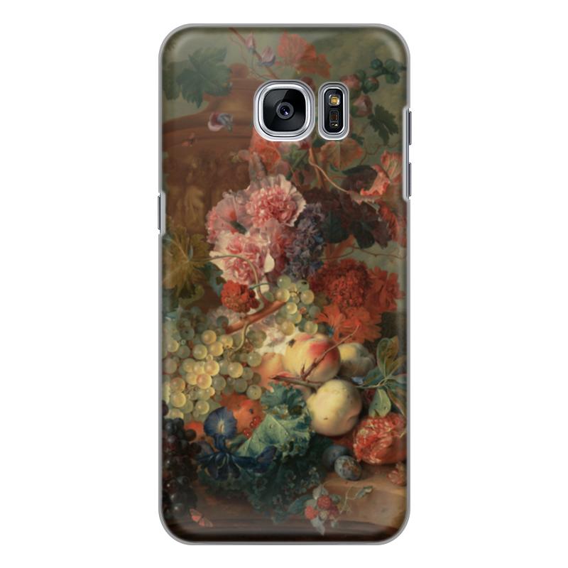 Чехол для Samsung Galaxy S7 Edge силиконовый Printio Цветы (ян ван хёйсум) ян ван хейсум