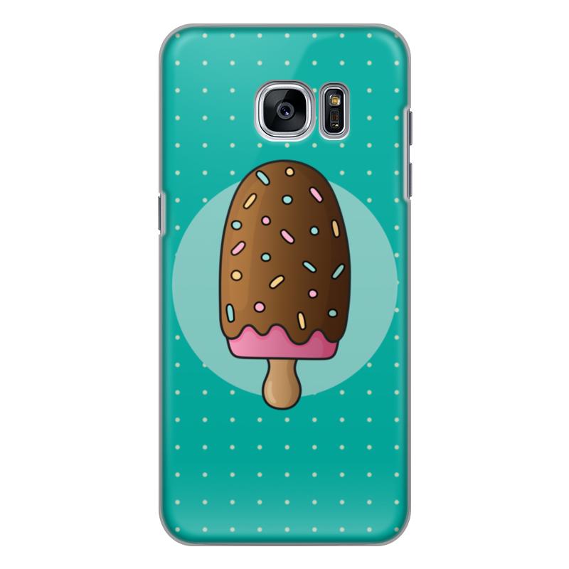 Чехол для Samsung Galaxy S7 Edge силиконовый Printio Мороженое чехол для samsung galaxy s7 edge кожаный printio мороженое