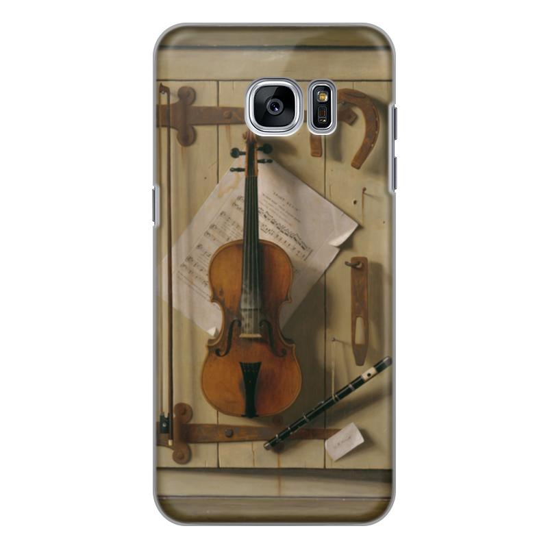 Чехол для Samsung Galaxy S7 Edge силиконовый Printio Натюрморт со скрипкой (уильям харнетт) чехол для samsung galaxy s5 printio натюрморт со скрипкой уильям харнетт