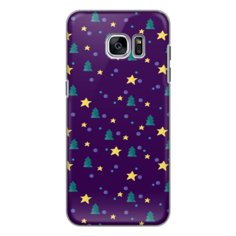 Чехол для Samsung Galaxy S7 Edge силиконовый Printio Елки и звезды нашествие дни и ночи