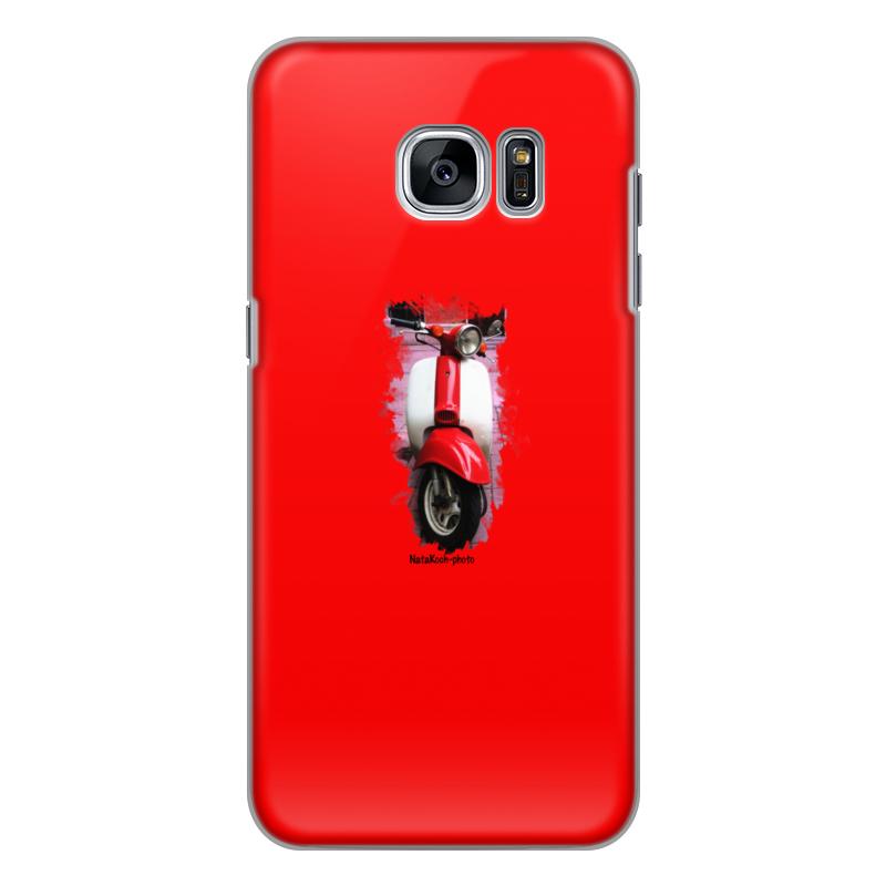 Чехол для Samsung Galaxy S7 Edge силиконовый Printio Скутер акустика на скутер по почте наложенным платежом