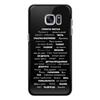 """Чехол для Samsung Galaxy S7 Edge силиконовый """"Манта для настоящих мужчин (черный вариант)"""" - праздник, мужчина, подарок, пожелания, мантра"""